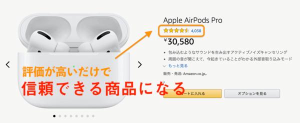 <画像>Amazonで使われている口コミの例