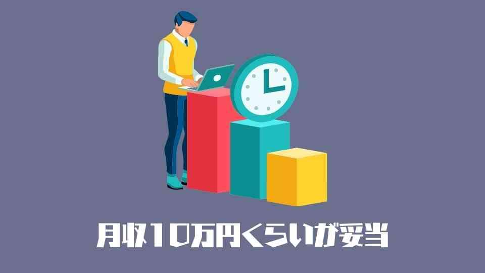 タスク形式の仕事は月収10万円くらいが妥当